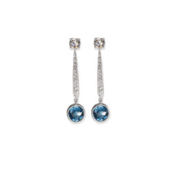 Diamond and gemstone earrings