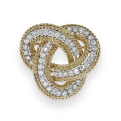 Gold and diamond brooch
