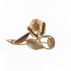 Gold flower pin